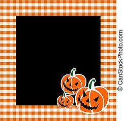 abóbora halloween, fundo, caras