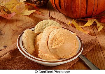 abóbora, sorvete