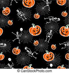 abóboras, dia das bruxas, esqueleto, fundo