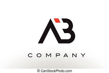AB Logo. Letter Design Vector. - AB Logo. Letter Design ...