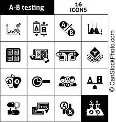 ab, noir, essai, icônes
