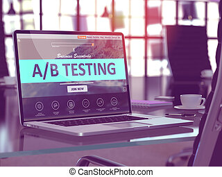 A/B Testing Concept on Laptop Screen. - A/B Testing Concept...