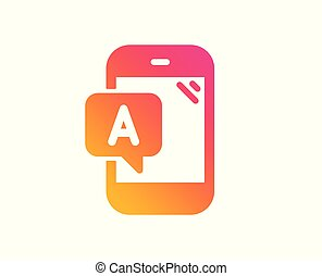 Ab testing icon. Ui phone test sign. Vector