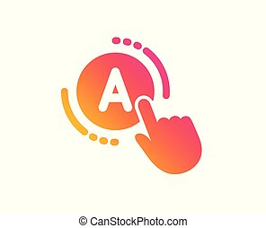 Ab testing icon. Ui test button sign. Vector