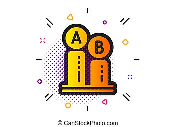 Ab testing icon. Ui test chart sign. Vector