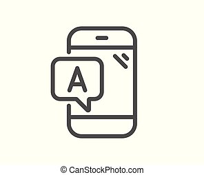 Ab testing line icon. Ui phone test sign. Vector
