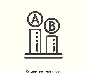 Ab testing line icon. Ui test chart sign. Vector