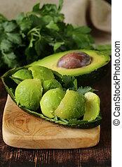 abacate, fresco, salada