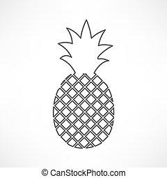 abacaxi, ícone