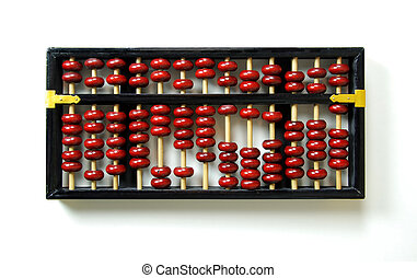 Abacus counting system with beads and posts