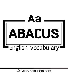 ABACUS english word vocabulary illustration design