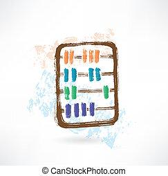 abacus grunge icon.