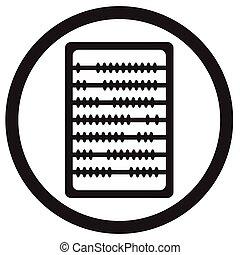 Abacus icon black
