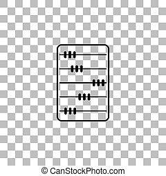Abacus icon flat