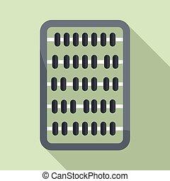 Abacus icon, flat style