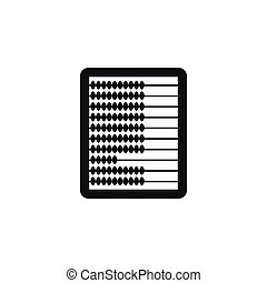 Abacus icon in simple style