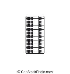 Abacus icon isolated. Traditional counting frame. Education sign. Mathematics school. Flat design. Vector Illustration
