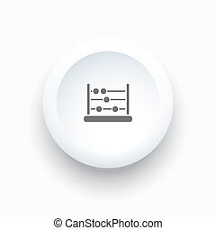 Abacus icon on a white simple button