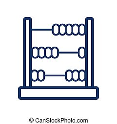 Abacus icon on white background, vector illustration