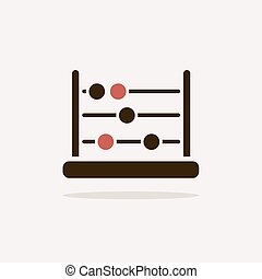 Abacus icon with shade on a clear background