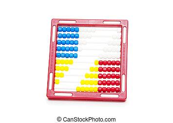 Abacus on Isolated White Background