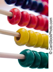 Abacus - Close-up view of a colorful educational toy: abacus