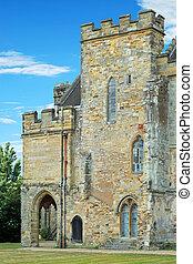 abadía de lucha, torre