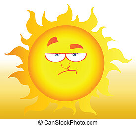 abaixamento, brilhar sol
