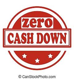 abajo, cero, efectivo