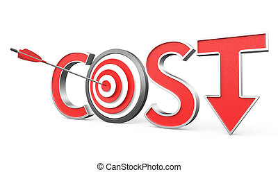 abajo, concepto, coste