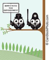 abajo, gobierno