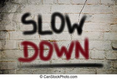 abajo, lento, concepto