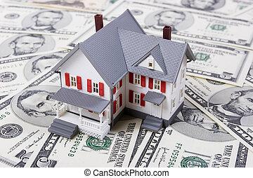 abajo, pago, hipoteca
