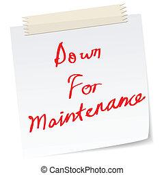 abajo, sitio web, mantenimiento