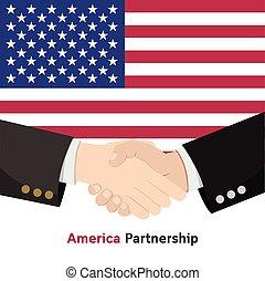 abanar, sociedade, américa, mão