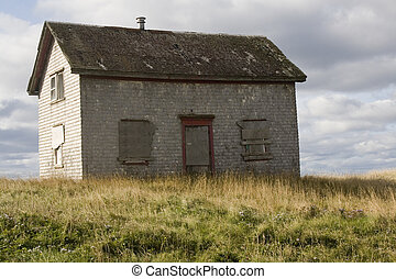Old abandon wooden house on the Magdalen islands
