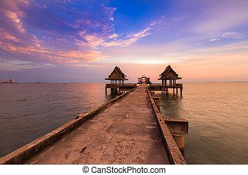 Abandon temple in the sea