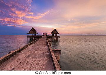 Abandon temple on the sea