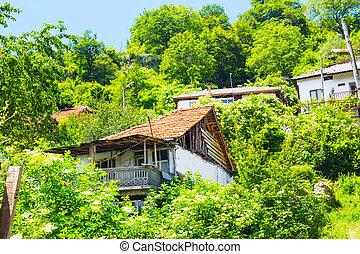 abandonado, casa, en, búlgaro, aldea