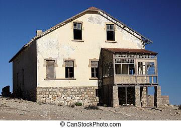 abandonado, casa, en, el, pueblo fantasma, kolmanskop, en, namibia