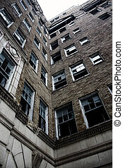 abandonado, edifício apartamento