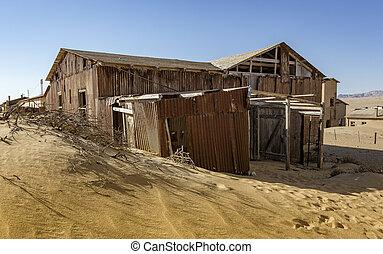 abandonado, edificios, ser, izquierda, a, putrefacción, en,...