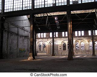 abandonado, fábrica