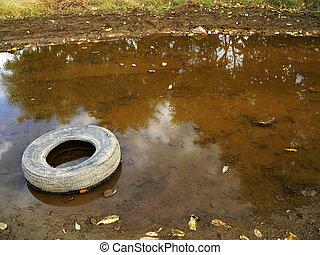 abandonado, neumático