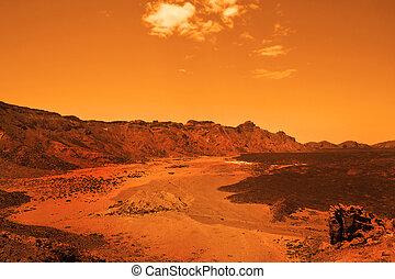 abandonado, terrestial, planeta