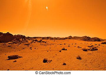 abandonado, terrestre, planeta