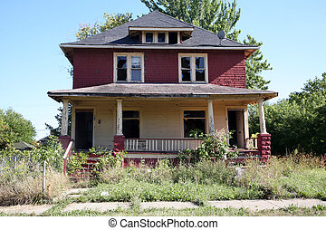 Abandoned 2 family home - Deserted two family home ready for...