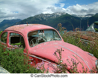 abandoned - Abandoned car in Alaska.