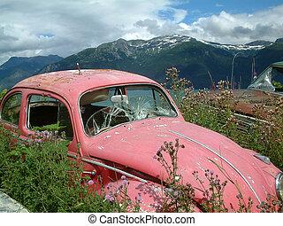 abandoned - Abandoned car in Alaska.