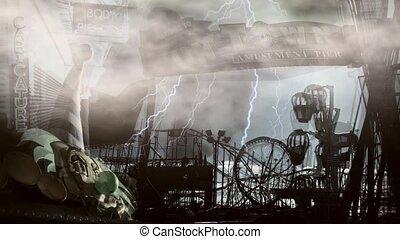 Fun town - Abandoned amusement park. Fun town